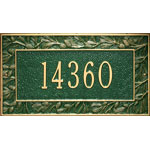 Whitehall - 1 Line Pinecone Address Plaques