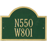Whitehall - 2 Line Wisconsin Special Address Plaques
