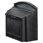 Whitehall - Wall Mount Black Residential Mailbox