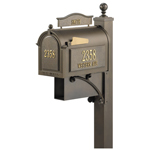Whitehall - Ultimate Bronze Residential Mailbox with Post
