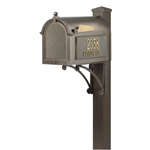 Whitehall - Superior Bronze Residential Mailbox with Post