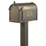 Whitehall - Premium Bronze Residential Mailbox with Post