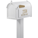 Whitehall - Premium White Residential Mailbox with Post 