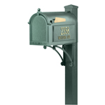 Whitehall - Superior Green Residential Mailbox with Post