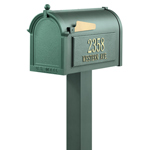 Whitehall - Premium Green Residential Mailbox with Post