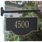 Whitehall - 1 Line Two-Sided Arch Hanging Address Plaques