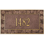 Whitehall - 1 Line Aspen Wall Address Plaques