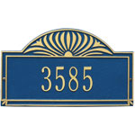 Whitehall - 1 Line Sunburst Address Plaques