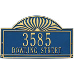 Whitehall - 2 Line Sunburst Address Plaques