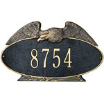 Whitehall - 1 Line Eagle Oval Address Plaques