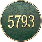 "Whitehall - 1 Line 15"" Round Address Plaques"