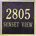 Whitehall - 2 Line Square Address Plaques