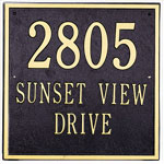 Whitehall - 3 Line Square Address Plaque