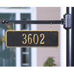 Whitehall - 1 Line Two-Sided Rectangle Hanging Address Plaques