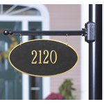 Whitehall - 1 Line Two-Sided Oval Hanging Address Plaques