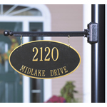 Whitehall - 2 Line Two-Sided Oval Hanging Address Plaques