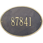 Whitehall - 1 Line Hawthorne Oval Address Plaques
