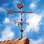 "Whitehall - 30"" Full-Bodied Rooster Weathervane"