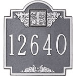 Whitehall - 1 Line Monogram Standard Address Plaques