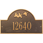 Whitehall - 1 Line Flying Duck Address Plaques