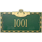 Whitehall - 1 Line Claddagh Address Plaques