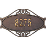 Whitehall - 1 Line Hackley Fretwork Address Plaques