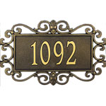 Whitehall - 1 Line Mears Fretwork Address Plaques