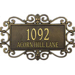 Whitehall - 2 Line Mears Fretwork Address Plaques