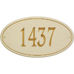 Whitehall - 1 Line San Diego Carved Stone Address Plaques