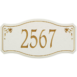 Whitehall - 1 Line New Amsterdam Carved Stone Address Plaques