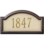 Whitehall - 1 Line Providence Artisan Stone Address Plaques