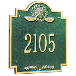Whitehall - 1 Line Golf Emblem Address Plaques