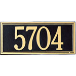 Whitehall - 1 Line Double Line Address Plaque