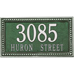 Whitehall - 2 Line Egg & Dart Address Plaques