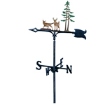 Whitehall - Deer &amp; Pines Garden Weathervanes