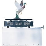 Whitehall - Two-Sided One Line Mailbox Sign With Duck Ornament