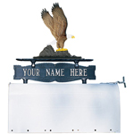 Whitehall - Two-Sided One Line Mailbox Sign With Eagle Ornament