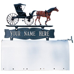 Whitehall - Two-Sided One Line Mailbox Sign With Country Doctor Ornament