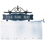Whitehall - Two-Sided One Line Mailbox Sign With Scroll Ornament
