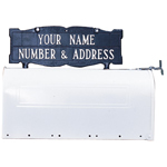 Whitehall - Two-Sided Two Line Mailbox Address Sign