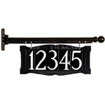 """Whitehall - 4"""" House Number Ladder Rest Signs"""