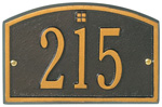 Whitehall - 1 Line Cape Charles Petite Wall Mount Address Plaque