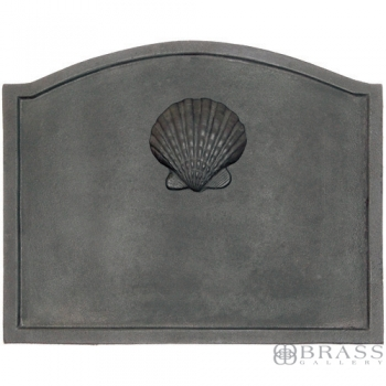 Minuteman - Black Cast Iron Scallop Shell Firebacks
