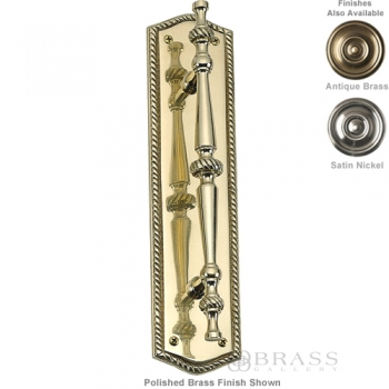 "Brass Accents - Oval Rope Door Pull Plate - 2-1/2"" x 10-1/2"""