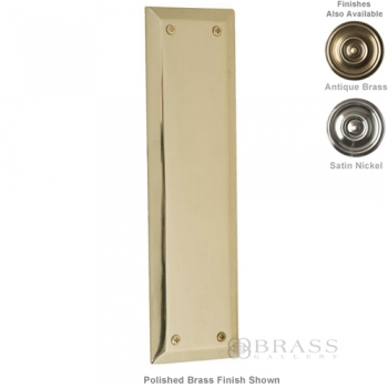 "Brass Accents - Quaker Door Push Plate - 2-3/4"" x 10"""