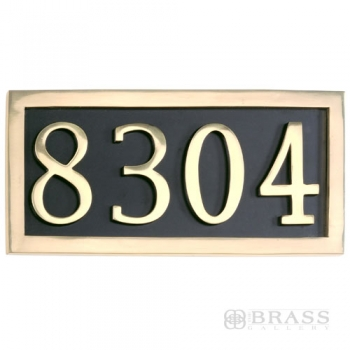 Brass Accents - Four Numeral Address Marker Plaque