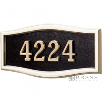 Gaines - 1 Line Black 5 Letter Roundtangle House Number Plaques
