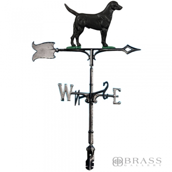 "Whitehall - 30"" Black Lab Rooftop Weathervanes"