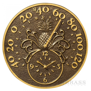 Whitehall - Pineapple Thermometer Clock
