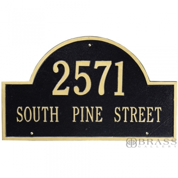 Whitehall - 2 Line Arch Address Plaque